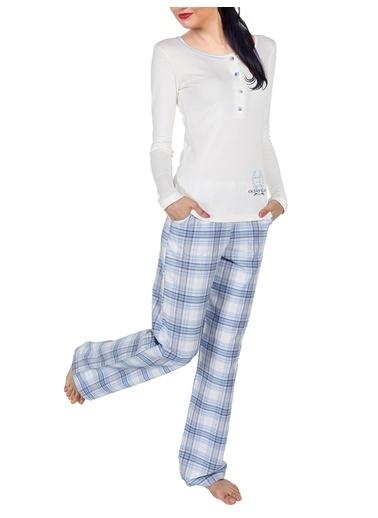 Doremi Kadın Pijama Takımı Ekru